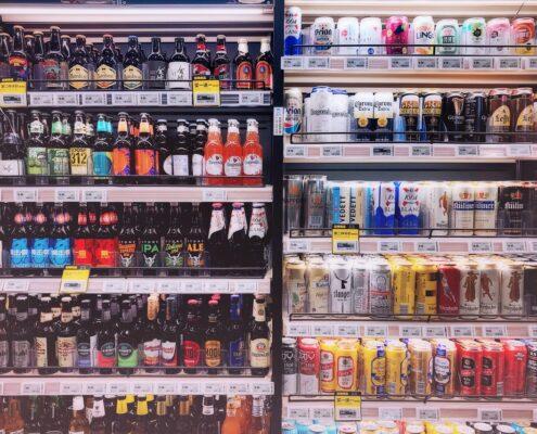 Kühlschrank mit Getränken